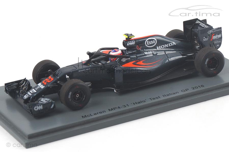 McLaren MP4-31 Halo Test Italien 2016 Jenson Button Spark 1:43 S5022