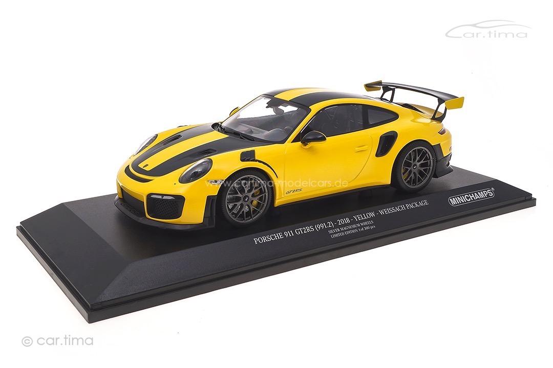 Porsche 911 (991 II) GT2 RS Weissach Package Racinggelb Minichamps 1:18 153068306