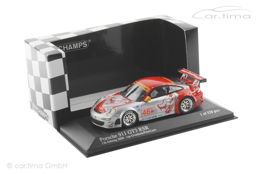 Porsche 911 (997) GT3 RS 12h Sebring 2008 Lietz/Pilet/van Overbeek Minichamps 1:43 400087846