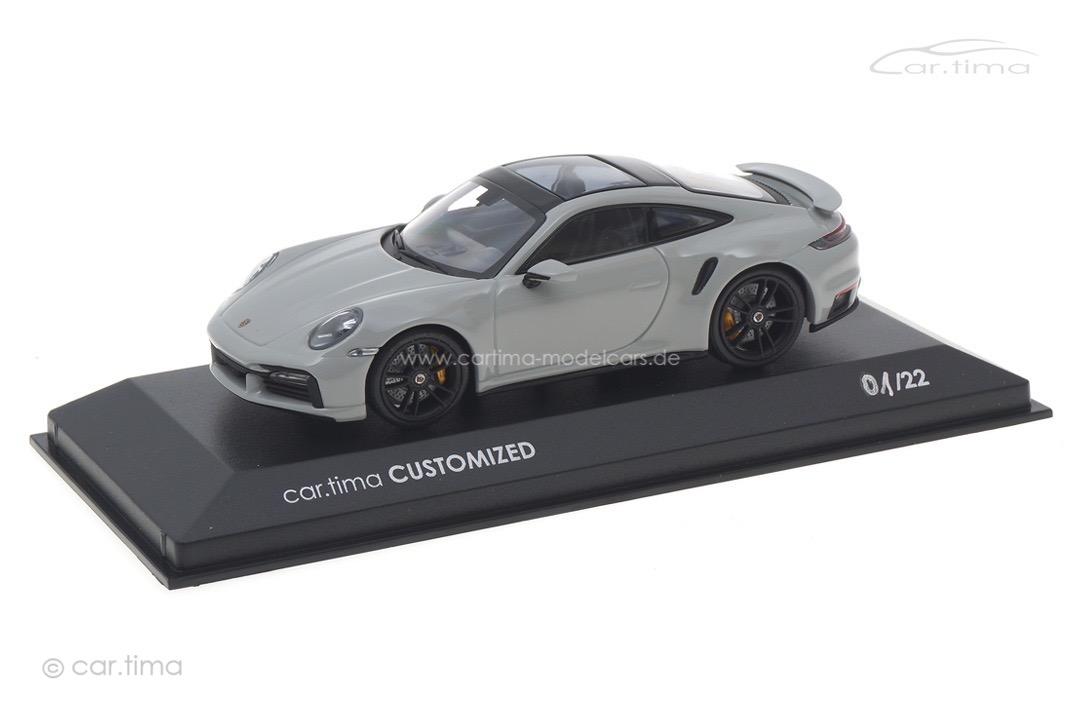 Porsche 911 (992) Turbo S Kreide/Rad schwarz Minichamps car.tima CUSTOMIZED CAC04321033