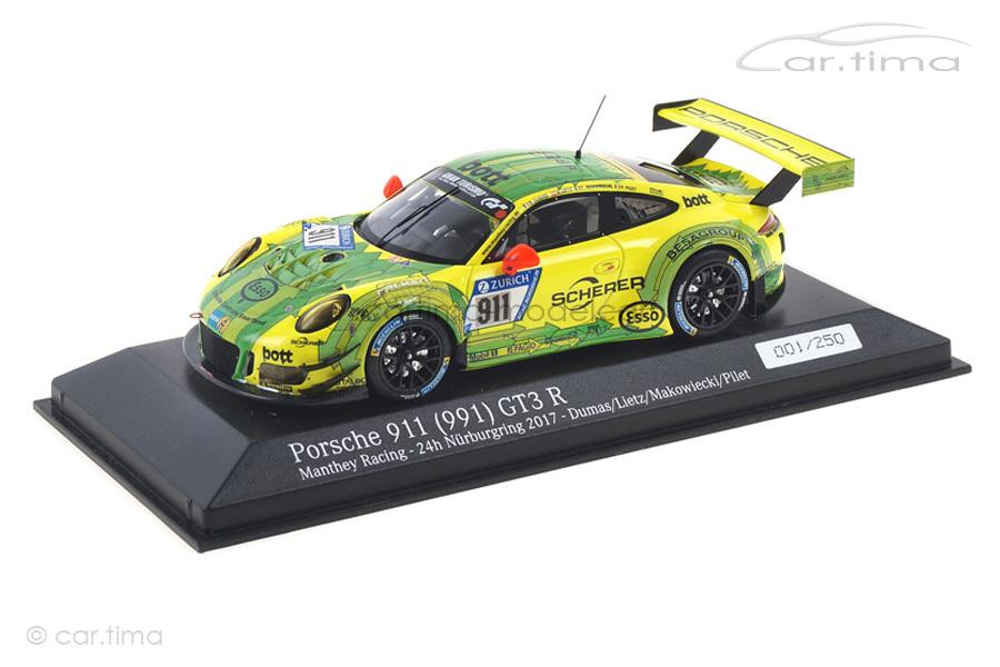 Porsche 911 GT3 R 24h Nürburgring 2017 Dumas/Lietz/Pilet Minichamps 1:43 CA04318003