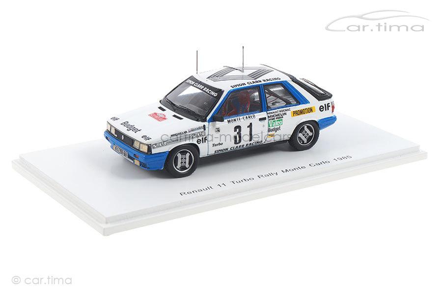 Renault 11 Turbo Rallye Monte Carlo 1985 Oreille/Oreille Spark 1:43 S5566