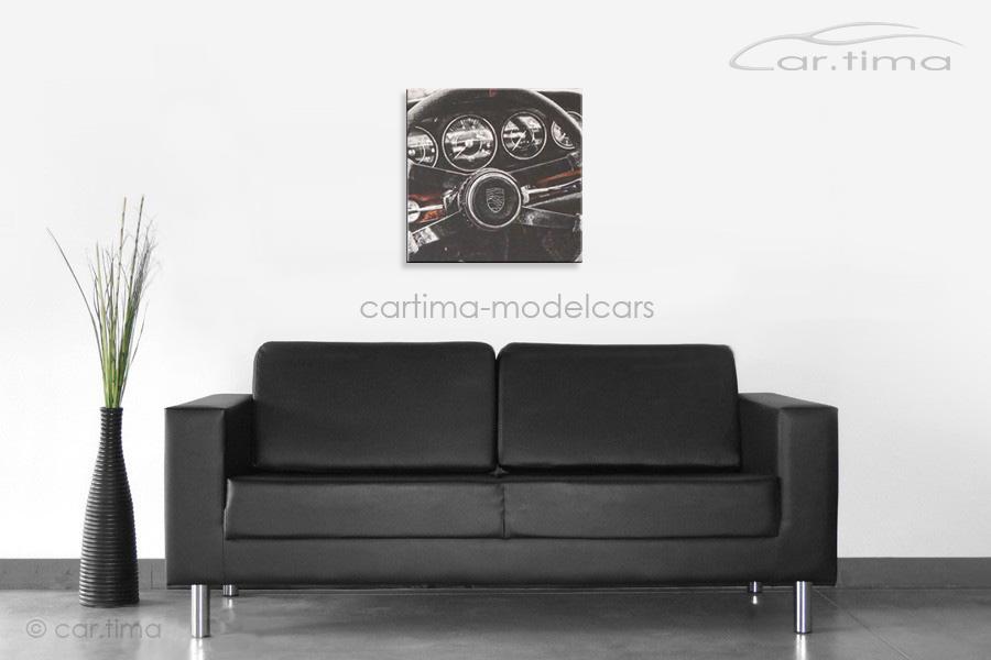 Kunstdruck auf Leinwand/Keilrahmen Porsche 911 Interior 45x45 cm