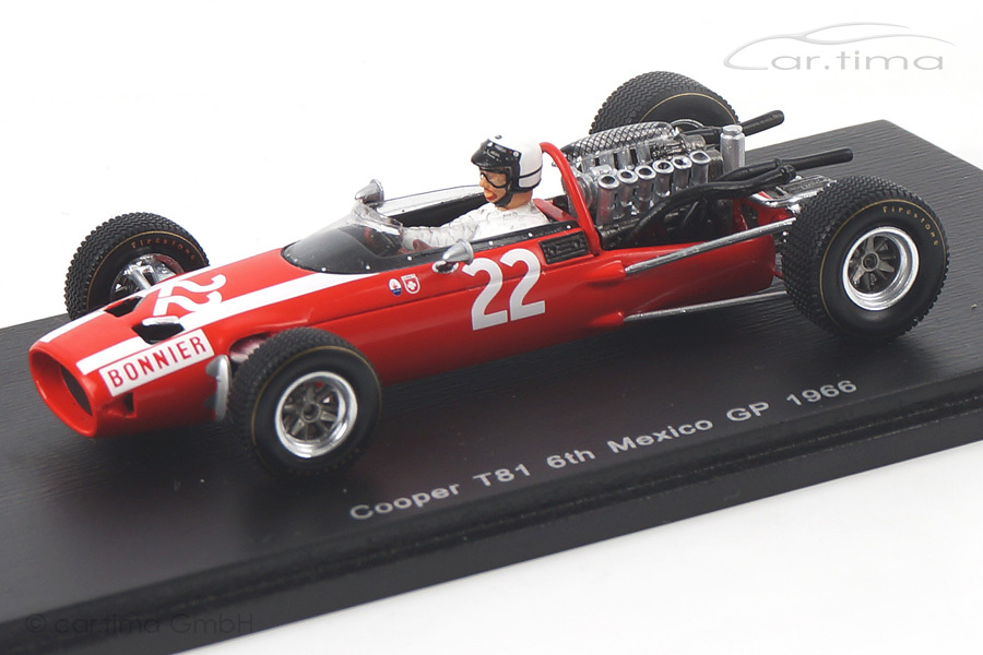 Cooper T81 GP Mexiko 1966 Jo Bonnier Spark 1:43 S3523