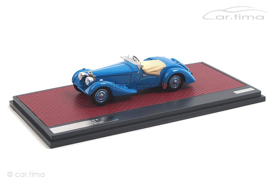 Bugatti T57S Corsica Roadster Malcolm Campbell 1937 Matrix 1:43 MX40205-092