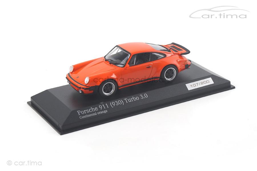 Porsche 911 (930) Turbo 3.0 Continental orange Minichamps car.tima EXCLUSIVE 1:43 CA04316032