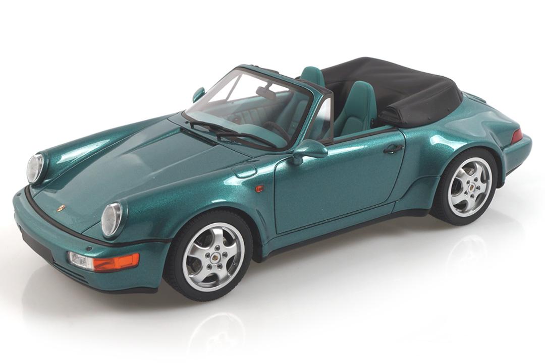 Porsche 911 (964) Cabriolet Turbo Look Wimbledon grün met. GT Spirit 1:18 GT294