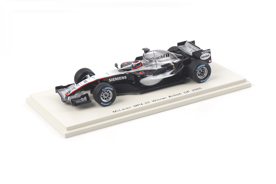 McLaren MP4-20 Winner British GP 2005 Juan-Pablo Montoya Spark 1:43 S4304