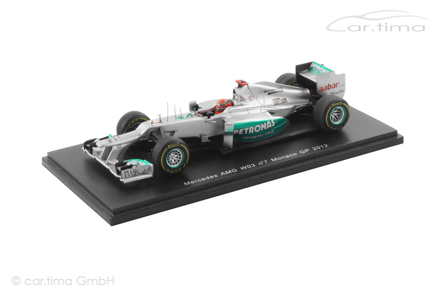 Mercedes-AMG W03 GP Monaco 2012 Michael Schumacher Spark 1:43 S3042