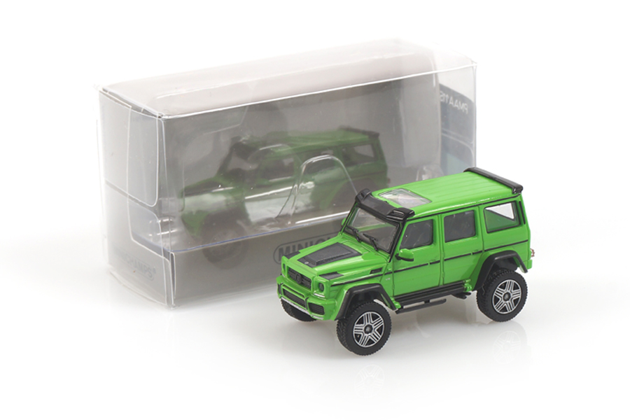 Brabus 4x4² auf Basis MB G 500 4x4² 2016 grün Minichamps 1:87 870037202