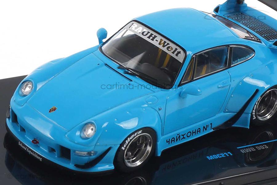 RWB Rauh-Welt Porsche 911 Turbo (993) Rivierablau IXO 1:43 MOC211