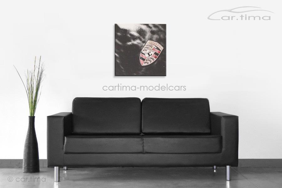 Kunstdruck auf Leinwand/Keilrahmen Porsche Emblem 45x45 cm