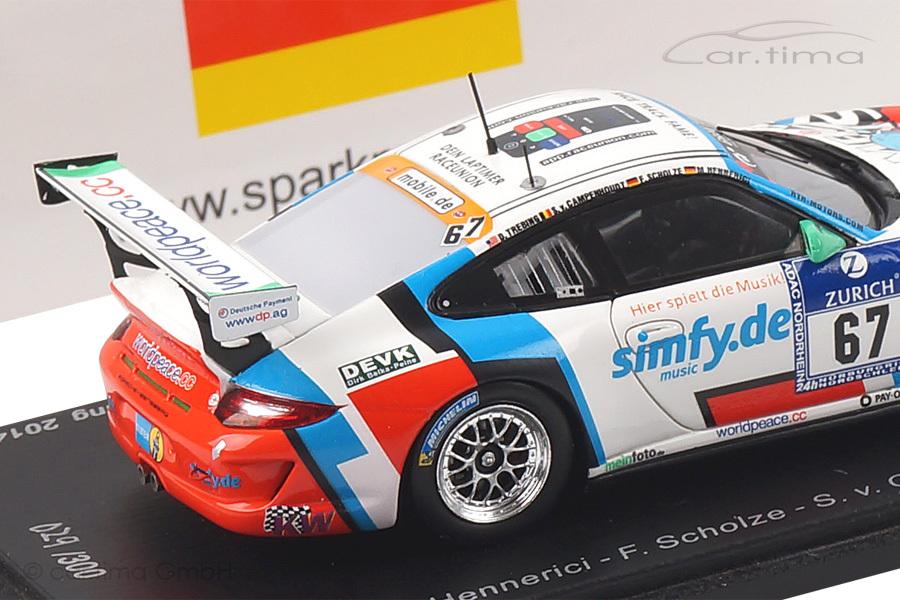 Porsche 911 (997 II) GT3 Cup 24h Nürburgring 2014 Hennerici/Scholze/Trebing Spark 1:43 SG138