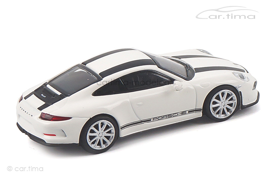 Porsche 911 (991) R weiß/Dekorstreifen schwarz Minichamps 1:87 870066226