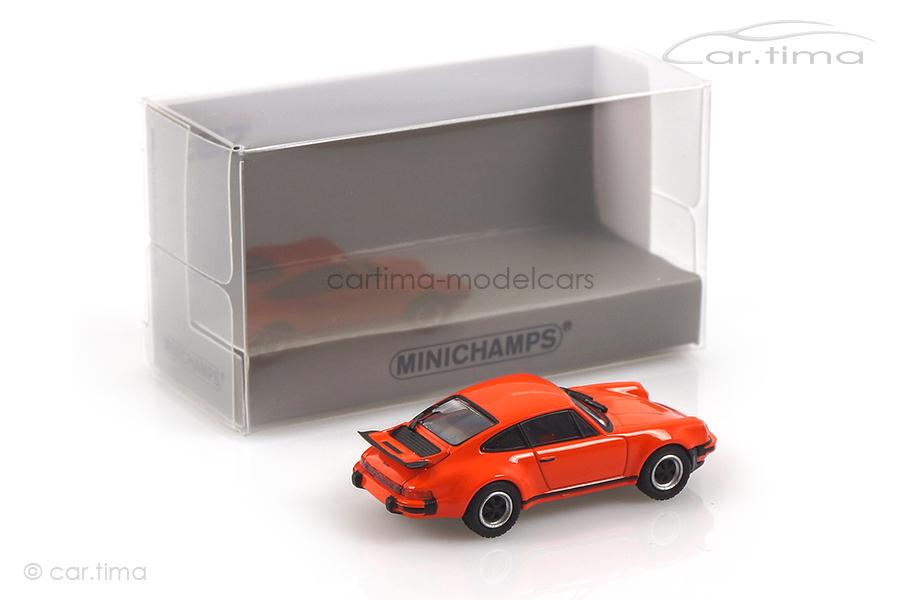 Porsche 911 (930) Turbo 3.0 1977 orange Minichamps 1:87 870066104