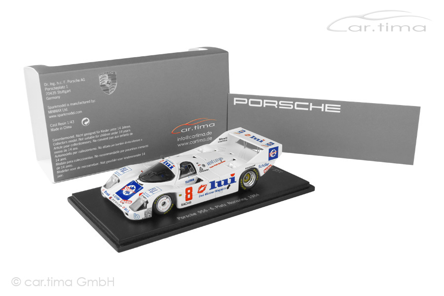 Porsche 956 Norisring 1984 Keke Rosberg Spark car.tima EXCLUSIVE 1:43 CAP04311017