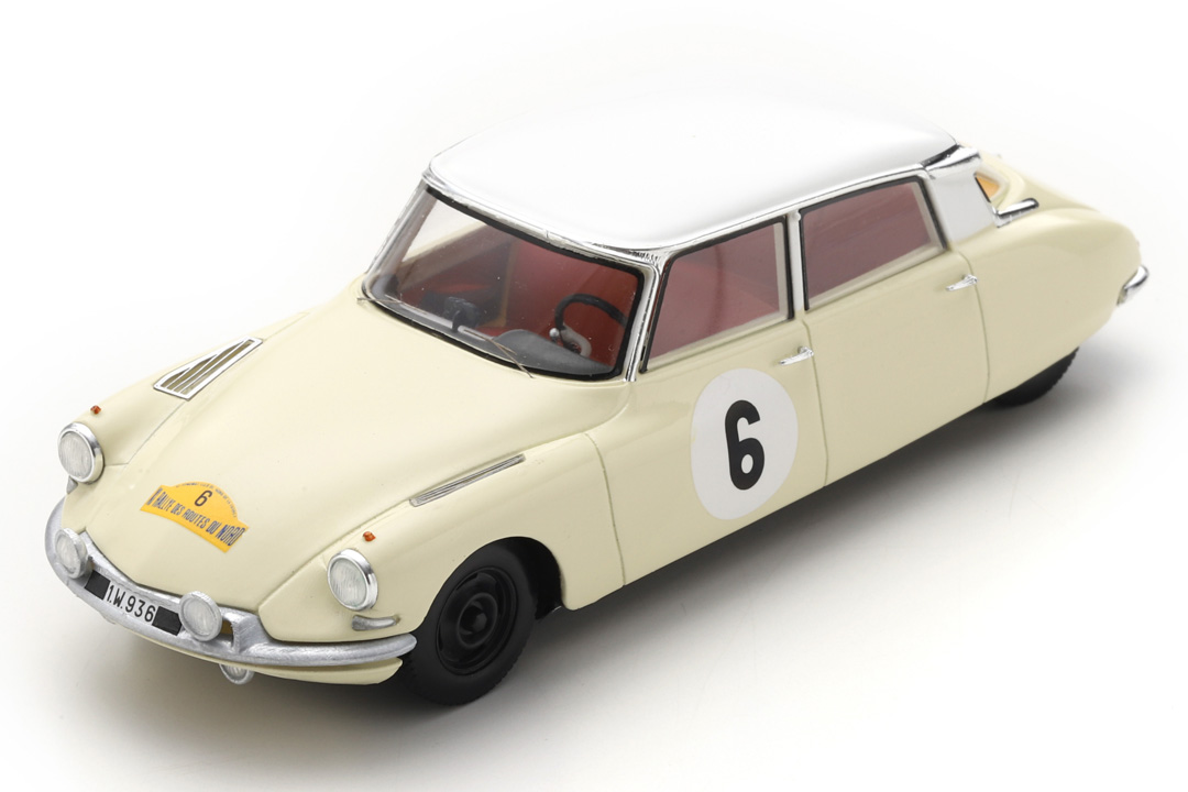 Citroen DS19 Rallye des Routes du Nord 1963 Bianchi/Ickx Spark 1:43 SF230
