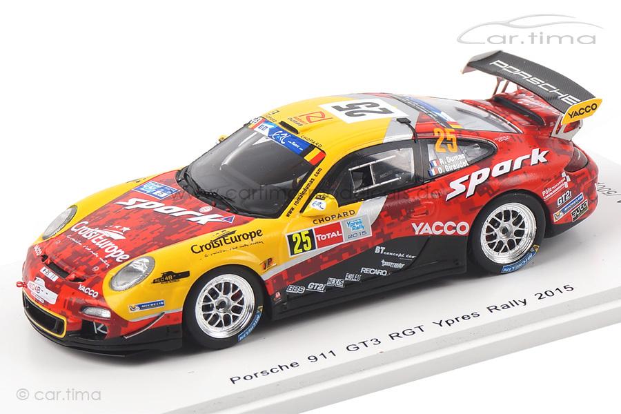 Porsche 911 (997 II) GT3 RGT Ypres Rally 2015 Dumas/Giraudet Spark 1:43 SB104