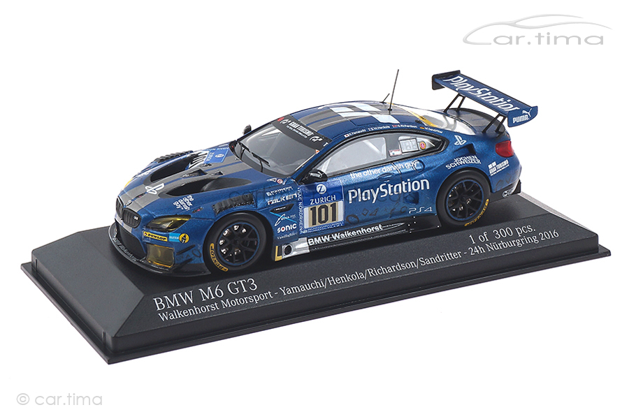 BMW M6 GT3 24h Nürburgring 2016 Henkola/Yamauchi/Sandritter Minichamps 1:43 437162601