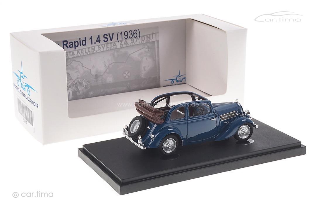 Skoda Rapid 1.4 SV 1936 blau autocult 1:43 90160