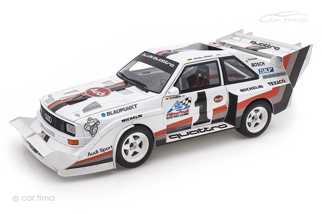 Audi Sport quattro S1 Winner Pikes Peak 1987 Walter Röhrl AUTOart 1:18 88700