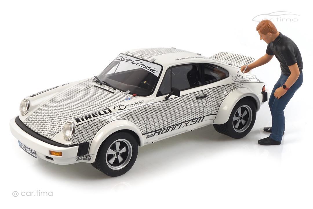 Porsche 911 Röhrlx911 mit Walter Röhrl Figur Schuco 1:18 450024900