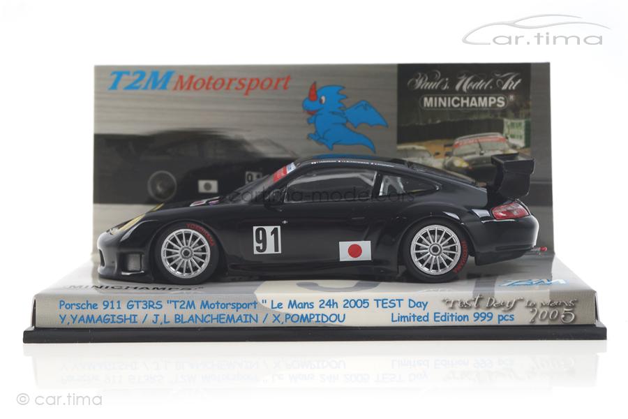 """Porsche 911 GT3 RS """"T2M"""" 24h LeMans 2005 Test-Day Minichamps 1:43 403056971"""