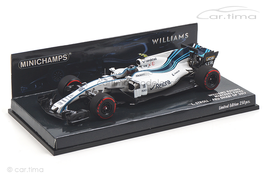 Williams Racing Mercedes FW40 Abu Dhabi GP 2017 Lance Stroll Minichamps 1:43 417172018