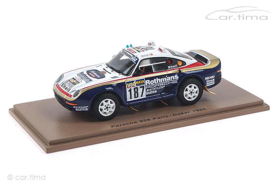 Porsche 959 Rallye Paris-Dakar 1986 Kussmaul/Unger Spark 1:43 S7816