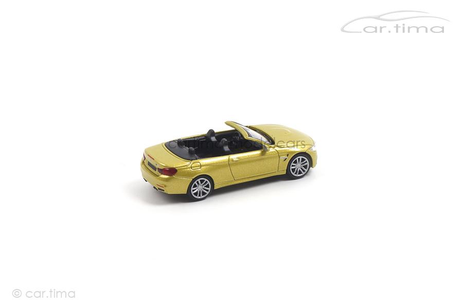 BMW M4 Cabriolet 2015 gelb Minichamps 1:87 870027234