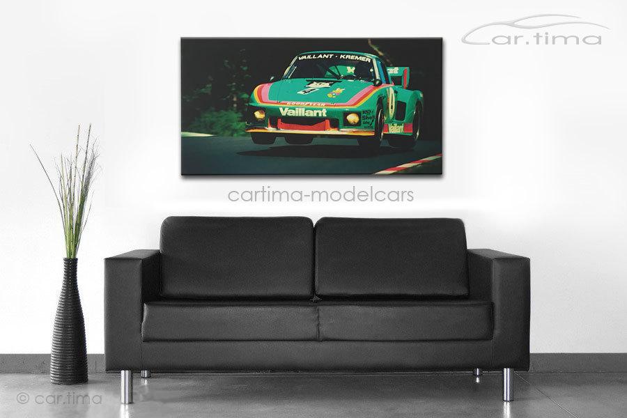 Kunstdruck auf Leinwand/Keilrahmen Porsche 935 K3 Kremer Racing Nürburgring 115x60 cm