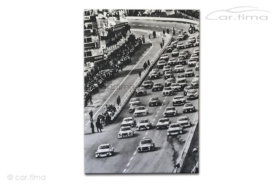 Kunstdruck auf Leinwand/Keilrahmen Start 24h Spa 1973 115x80 cm