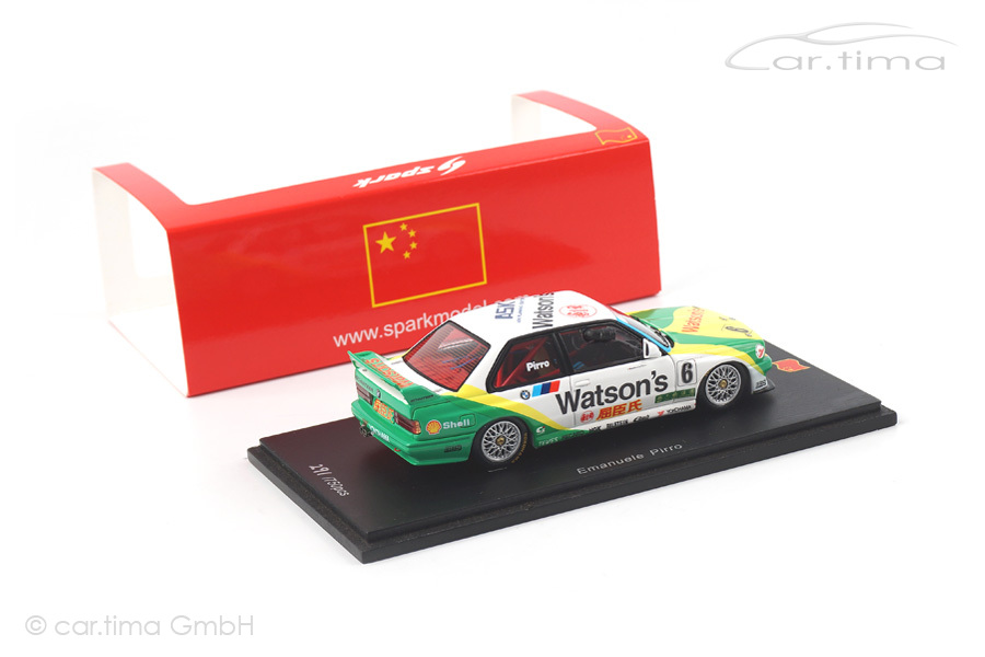 BMW M3 Winner Macau GP 1991 Emanuele Pirro Spark 1:43 SA051