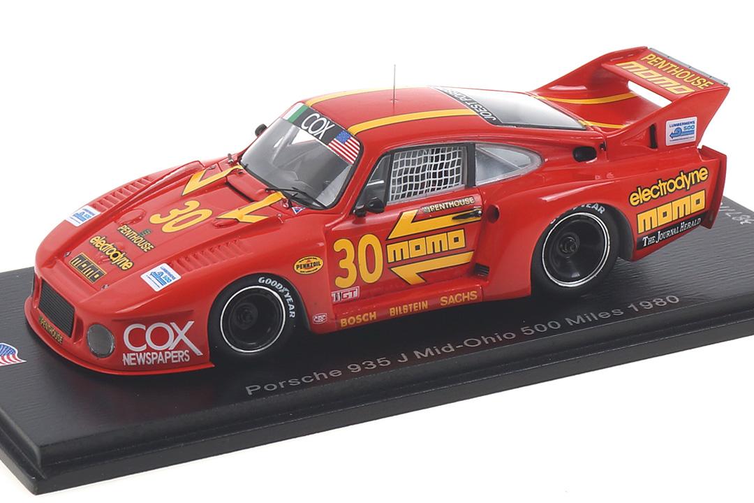 Porsche 935 J 500 Miles Mid-Ohio 1980 Busby/Moretti Spark 1:43 US100