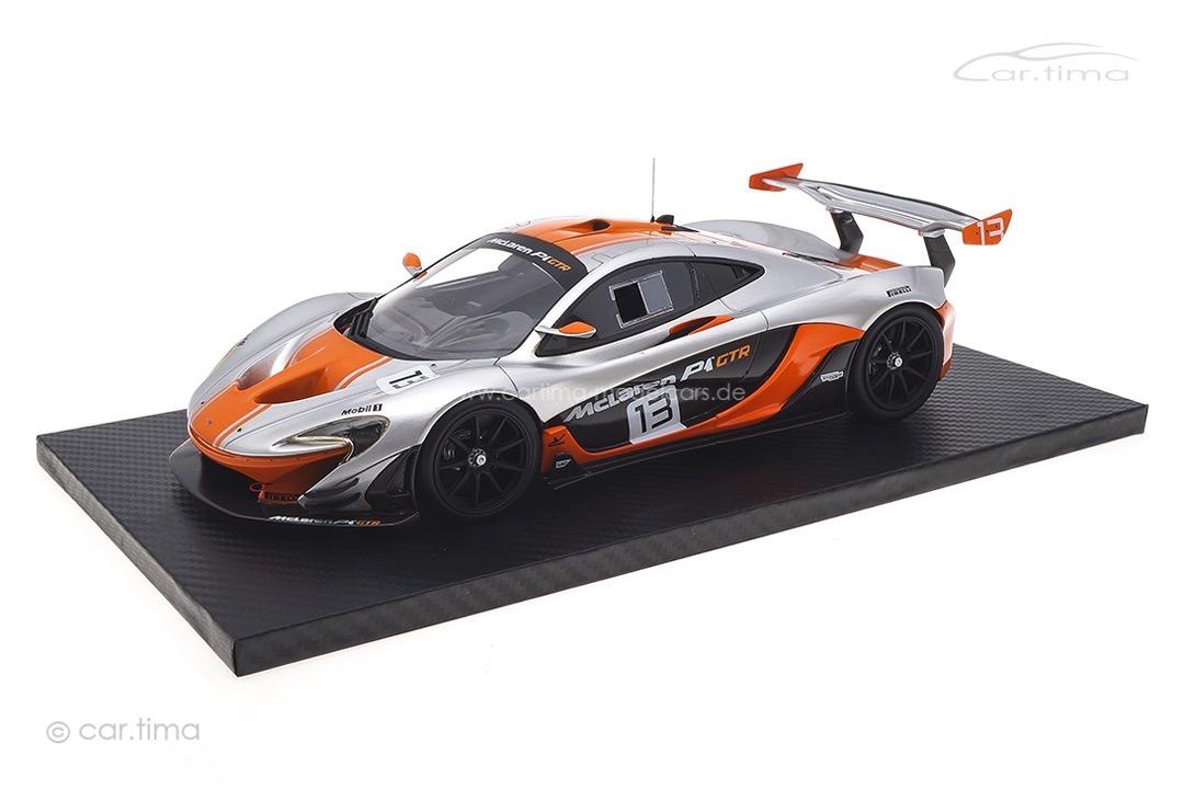 McLaren P1 GTR silber/orange TSM 1:18 TSM181006R