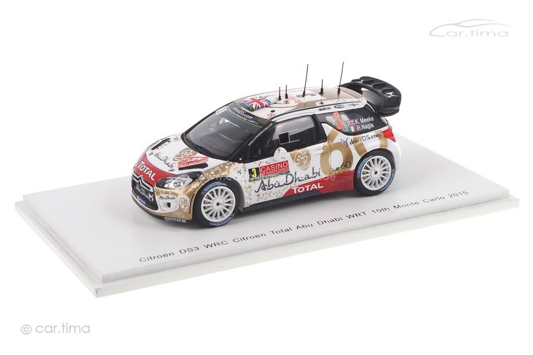 Citroen DS3 WRC Rallye Monte Carlo 2015 Meeke/Nagle Spark 1:43 S4503