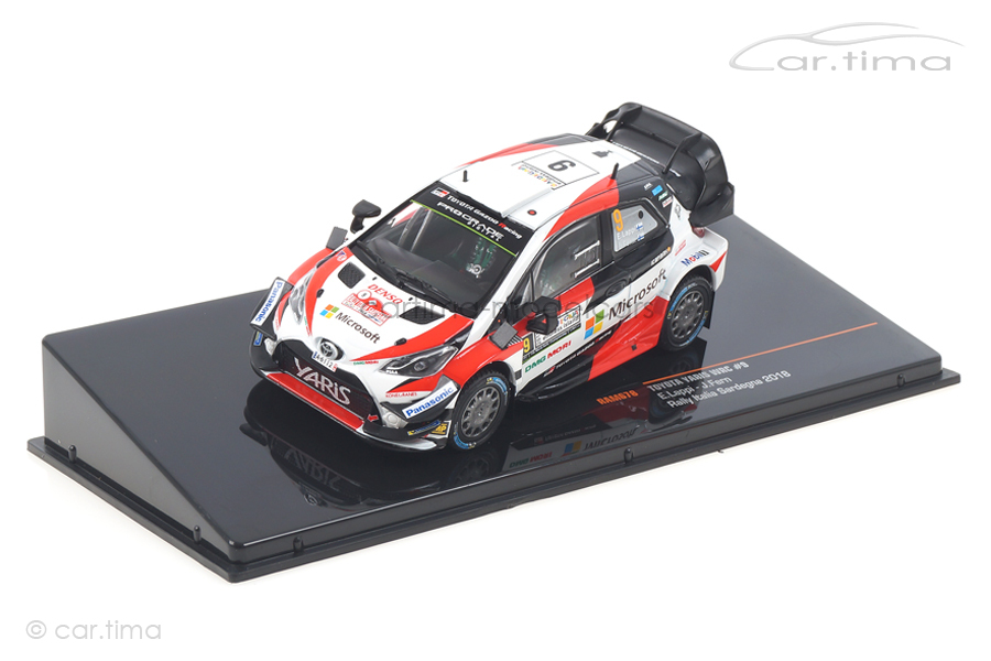 Toyota Yaris WRC Italien Rallye 2018 Lappi/Ferm IXO 1:43 RAM678