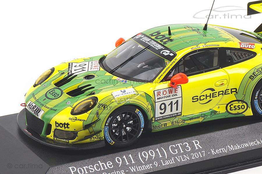 Porsche 911 GT3  R Winner 9. Lauf VLN 2017 Kern/Makowiecki Minichamps 1:43 CA04318002