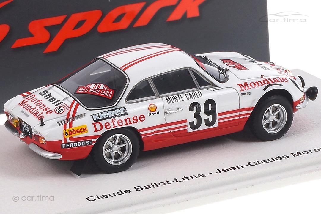 Alpine A110 Rallye Monte Carlo 1973 Ballot-Léna/Morenas Spark 1:43 S6112