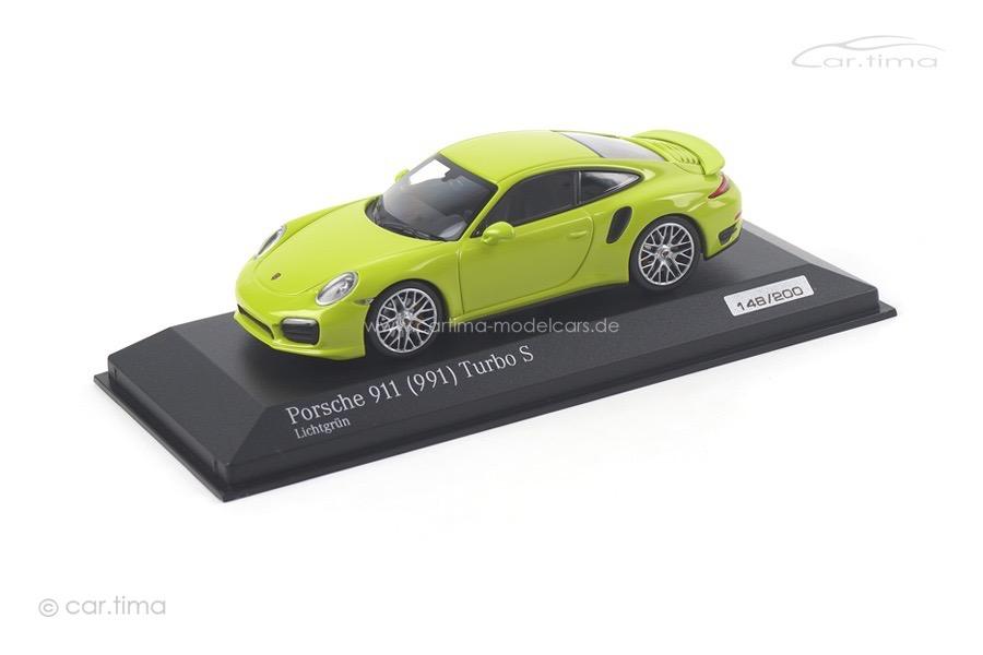 Porsche 911 (991) Turbo S Lichtgrün Minichamps 1:43 CA04316064
