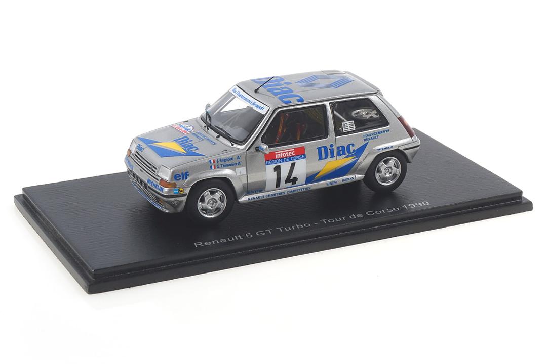 Renault 5 GT Turbo Tour de Corse 1990 Ragnotti/Thimonier Spark 1:43 S5556
