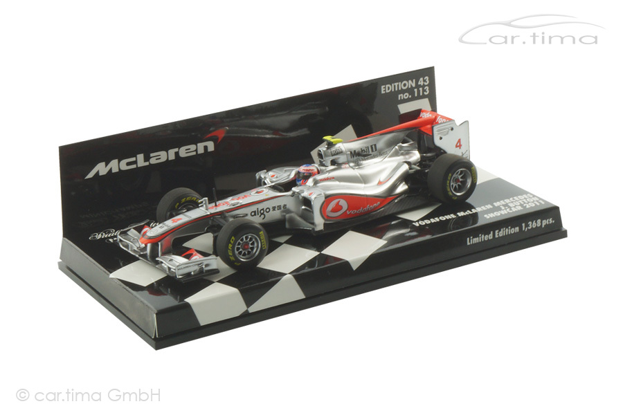 Vodafone McLaren Mercedes  Showcar 2011 Jenson Button  Minichamps 1:43 530114374