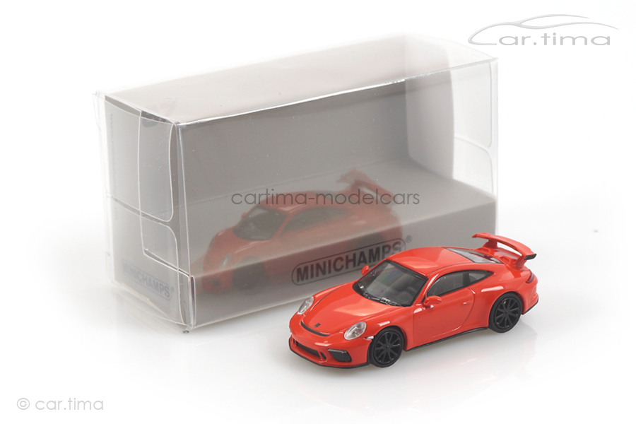 Porsche 911 (991 II) GT3 Lava orange Minichamps 1:87 870067320