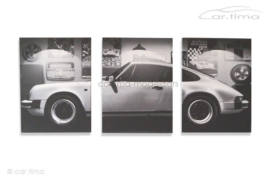 Kunstdruck auf Leinwand/Keilrahmen Porsche 911 Carrera Grandprixweiß 136,5x60 cm
