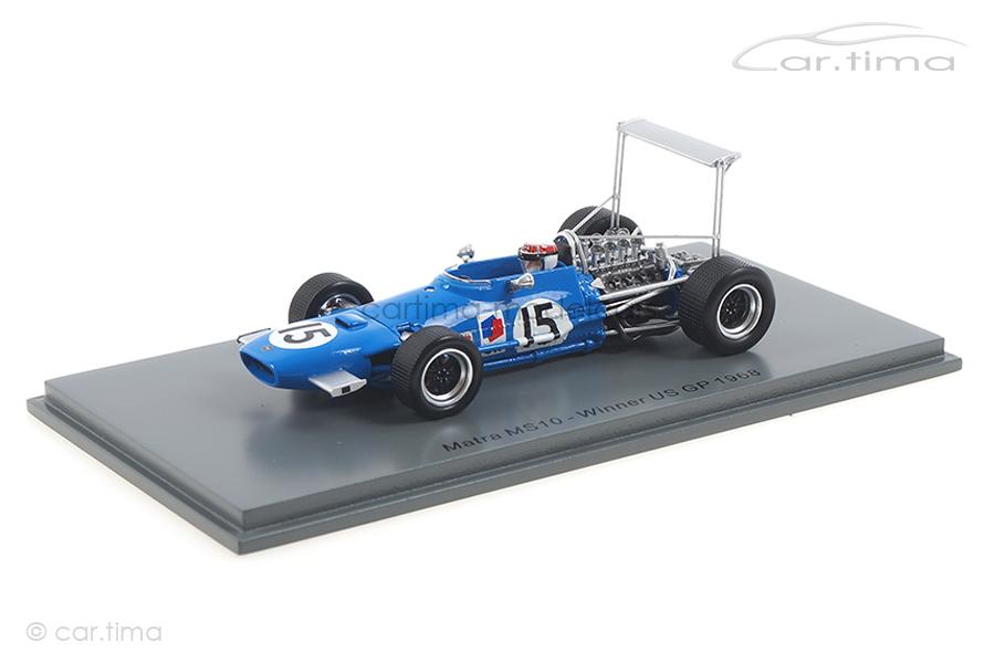 Matra MS10 Winner GP USA 1968 Jackie Stewart Spark 1:43 S7182