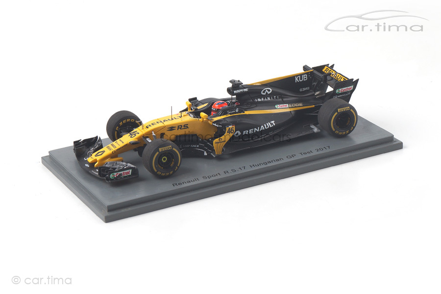 Renault Sport R.S.17 Test GP Ungarn 2017 Robert Kubica Spark 1:43 S5055