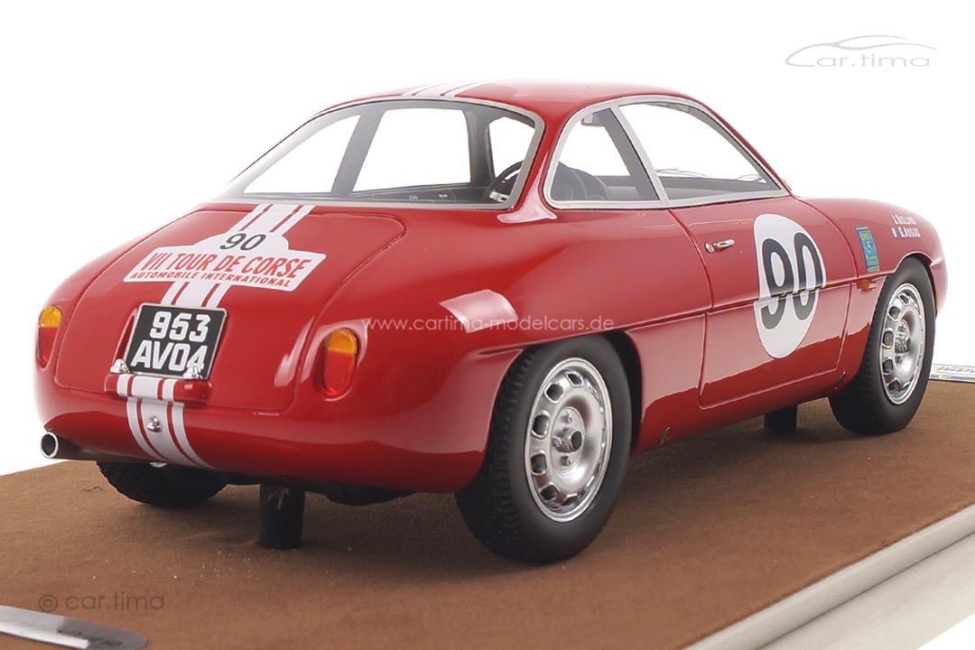 Alfa Romeo Giulietta SZ Tour de Corse 1960 Rolland/Augias Tecnomodel 1:18 TM18-42D