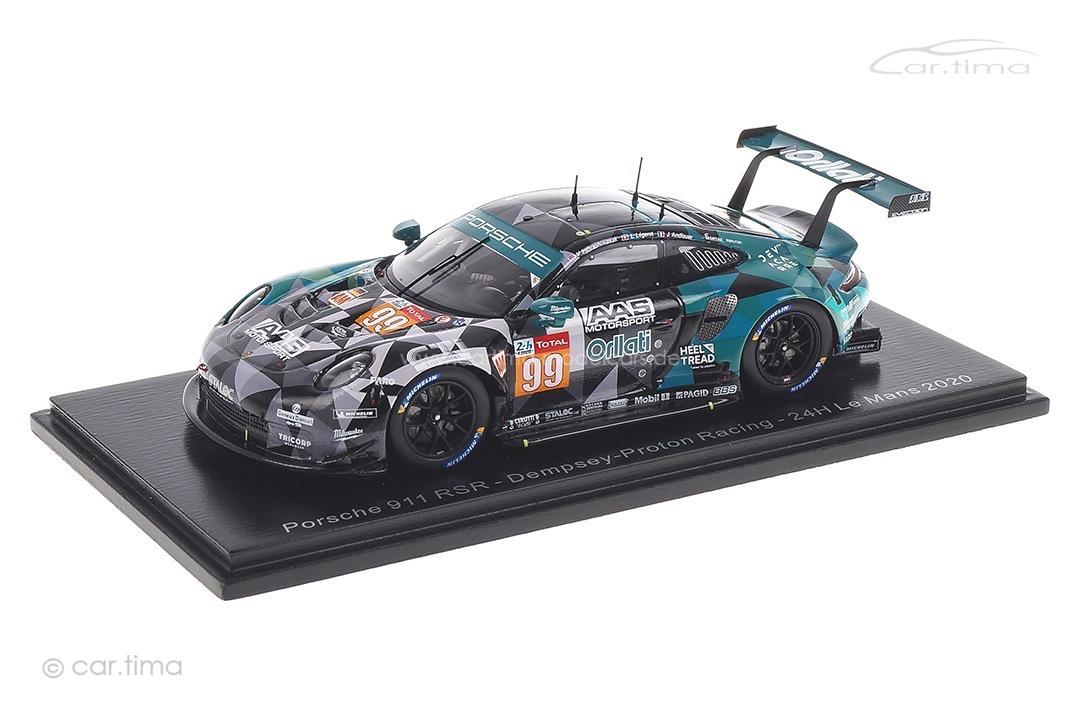 Porsche 911 RSR 24h Le Mans 2020 Andlauer/Inthraphuvasak/Légeret Spark 1:43 S7996