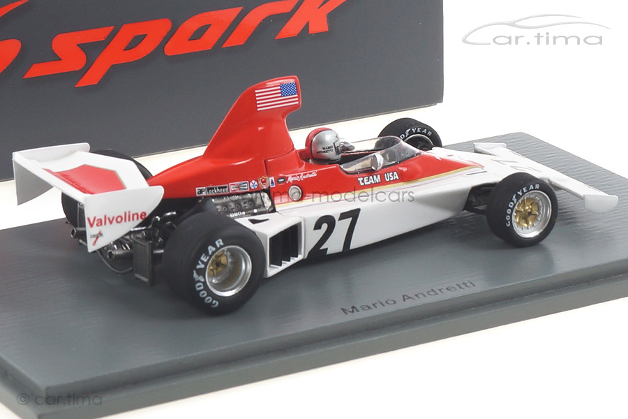 Parnelli VPJ4 GP Schweden 1975 Mario Andretti Spark 1:43 S1892