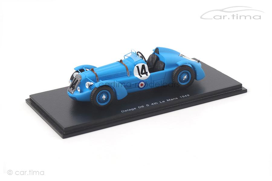 Delage D6 S 24h Le Mans 1949 Gerard/Godia Fales Spark 1:43 S2729